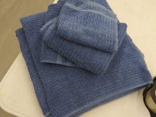 2 bath towels  2 hand towels  1 washcloth  faded bleached