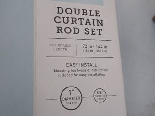 Double curtain rod set 72in x 144 in