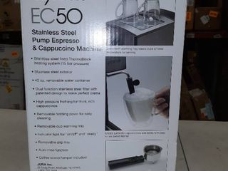 Capresso Espresso   Cappuccino Machine Stainless Steel