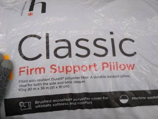 Classic firm support pillow