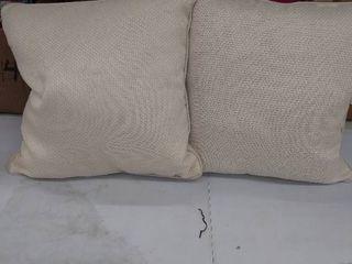2 decorative pillows 18x18