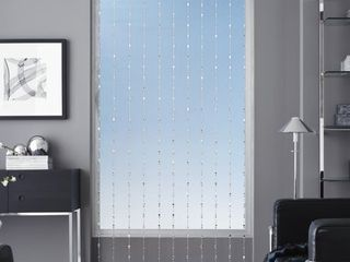 Regal Home Collections Elite Beaded Rod Pocket Curtain Panel  40  X 84  Silver