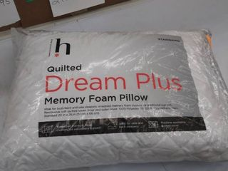 quilted dream plus memory foam pillow  Standard