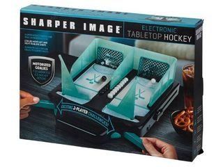 Sharper Image Electric Tabletop Hockey Game   Green   Sharper Image