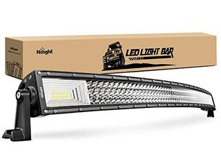 Nilight   18015C A lED light Bar 52Inch 783W Curved Triple Row Flood Spot Combo Beam led Bar 78000lM Driving lights Boat lights led Off Road lights for Trucks
