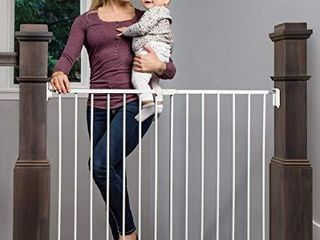 Regalo 2 in 1 Extra Wide Stairway and Hallway Walk Through Baby Safety Gate with Mounting Kit