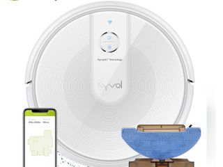 NEW  Kyvol Cybovac E31   Sweeping   Mopping Robot Vacuum Cleaner w  2200Pa Suction  Smart Navigation   150 Minutes Runtime  Works w  Alexa   Self Charging