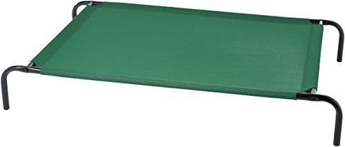 Amazon Basics Cooling Elevated Pet Bed  large  51 x 31 x 8 Inches  Green