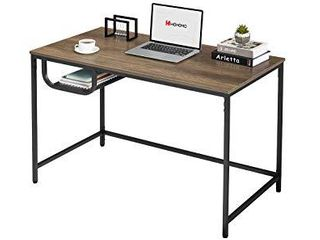 WOHOMO Small Computer Desk Study Writing Desk Simple Modern Home Office Desk 47a Easy Assembly Desk  Walnut