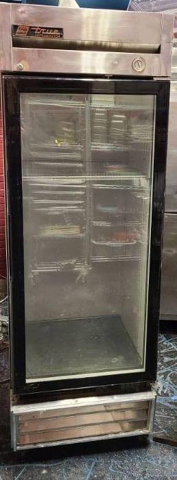 True StainlessSteel upright refrigerator with glass door on casters  Brand new Compressor