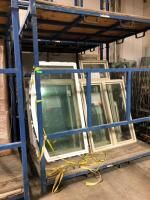 Vinyl Pre Fab Window Assortment  Qty 19  Contents Of Rack  See Description For More Information