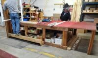 Drop leaf Custom Shop Table  33  x 72  x 12 5  Contents Not Included  Second Day loadout Only