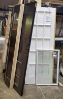 Exterior Door  36  With 12  Side lights  Also 30  15 light French Doors Already Machined  And 22  x 35  ODl Insert