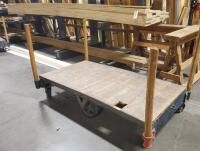 Heavy Duty Flatbed Warehouse Cart  42  x 72  Contents Not Included