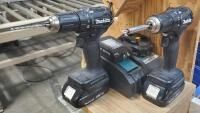 Makita 18 Volt Cordless 1 2  Driver  With Battery  Qty 2  And Charger