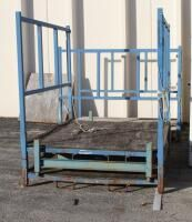 Heavy Duty  Steel  Forklift Stackable Storage Racks 68  x 90  x 64  Qty 3  Contents Not Included
