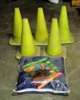 Safety Cones  Qty 5  And 40 sqft Moving Blanket