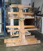 Custom Built  Double Sided  Wood Trim Racks  Measure Approx  5  x5  Qty 2 Pair