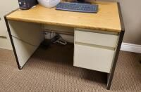Steelcase 2 Drawer Desk 30  x 45  x 30  Contents Not Included