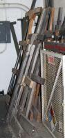 Custom Built  Double Sided  Wood Trim Racks  Measure Approx  5  x5  Qty 4 Pair