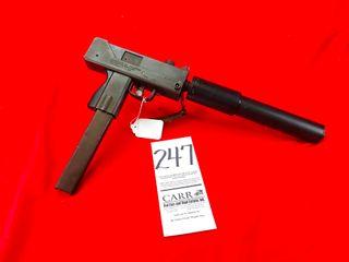 Ingram M10A1  9mm  SN S0037310  Open Bolt  Handgun