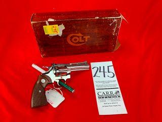 Colt Diamondback 38 Spl  Nickel  4  Bbl  SN R38275  Org  Box  Handgun