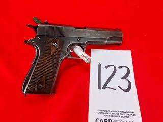 Colt Model 1911 US Army  US Property  45 Auto  SN 489014  Handgun