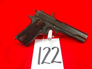 Colt British Gov t Model 1911   455 Eley  SN W100595  Handgun