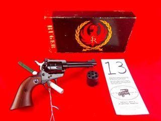 Ruger Single Six  22 Cal  5 1 2  Bbl  w Box   22 22 Mag Cylinder  SN 569697  Handgun