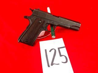 Ithaca M 1911 A1 US Army  45 Cal  SN 1864229  Released British Gov t   Handgun