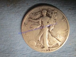 1934S WAlKING lIBERTY 1 2 DOllAR