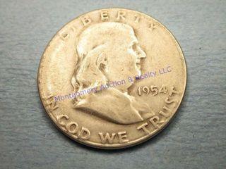 1954S FRANKlIN 1 2 DOllAR