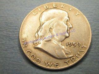 1959P FRANKlIN 1 2 DOllAR