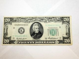 1950 B Series  20 Fed  Res  Note