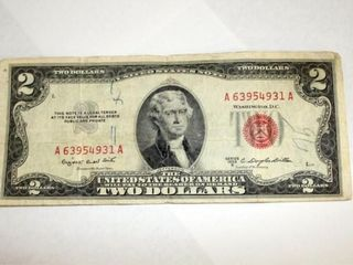 1953 B Series  2 US Note Red Seal