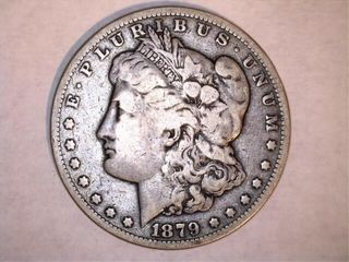 1879 S  IJ  Morgan Silver Dollar