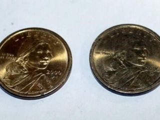 2   Sacagawea Native Amer  Golden Dollars