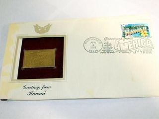 2002 Hawaii 34 Cent Gold Stamp Replica