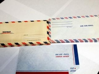 Via Air Mail Envelopes   about 30 total