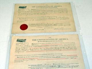 2   USA Homestead Certificates