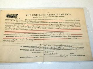 1   USA Homestead Certificate
