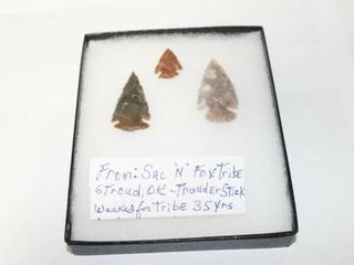 3   Arrowheads Sac N Fox Tribe