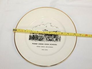 Pond Creek High School Collectible Plate