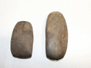 2  Stone Axe heads Native American