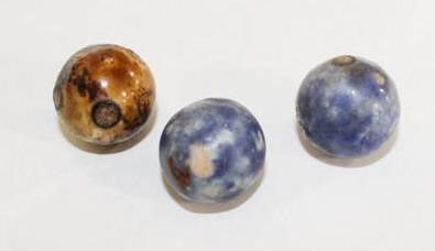 3 smaller sized bennington marbles