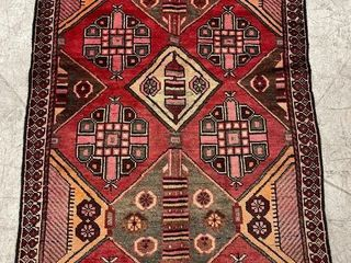 BAKHTAR HAND KNOTTED WOOl ACCENT RUG  5  X 3 2