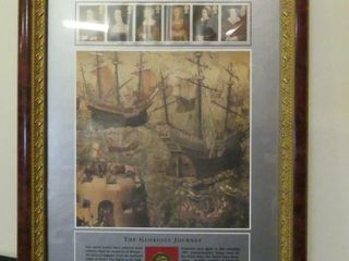 FRAMED COllECTION OF HENRY VIII   HIS 6 WIVES
