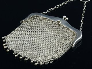 ENGlISH STERlING SIlVER MESH PURSE