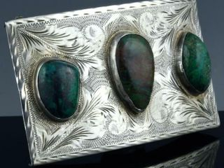 MEXICAN STERlING   TURQUOISE NAVAJO BElT BUCKlE