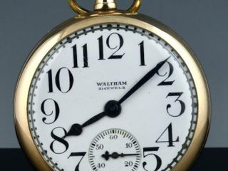 WAlTHAM RIVERSIDE 21J GOlD FIllED POCKET WATCH